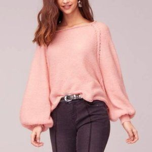 Band of Gypsies Hey Baby Blush Sweater S